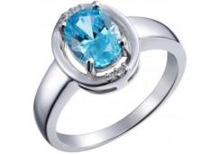 Женские кольца из серебра с цветными фианитами 27146