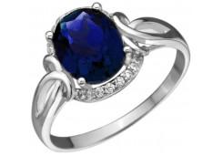 Женские кольца из серебра с цветными фианитами 129724