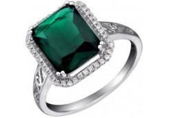 Женские кольца из серебра с цветными фианитами 63194