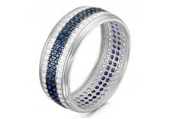 Женские кольца из серебра с цветными фианитами 96838