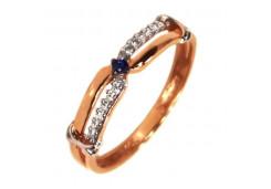Женские кольца из серебра с цветными фианитами 130904