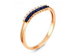 Женские кольца из серебра с цветными фианитами 130892