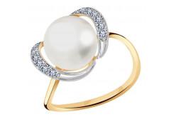 Золотые кольца с жемчугом 128782