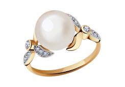 Золотые кольца с жемчугом 101457