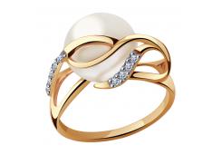 Золотые кольца с жемчугом 109230