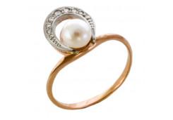 Женские золотые кольца с жемчугом 131770