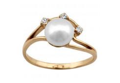 Женские золотые кольца с жемчугом 129906