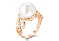 Женские золотые кольца с жемчугом 124840
