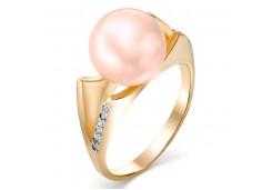 Женские золотые кольца с жемчугом 124843