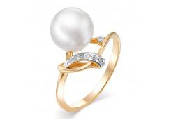 Женские золотые кольца с жемчугом 124844