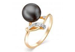 Женские золотые кольца с жемчугом 124845