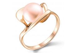Женские золотые кольца с жемчугом 124847