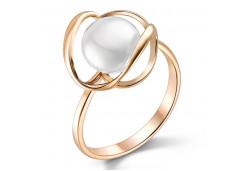 Женские золотые кольца с жемчугом 124849