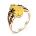 Золотое кольцо с янтарем