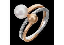 Женские золотые кольца с жемчугом 125197