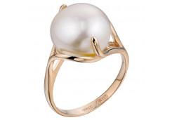 Женские золотые кольца с жемчугом 125526