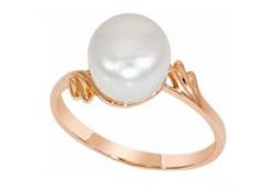 Женские золотые кольца с жемчугом 42640