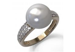 Женские золотые кольца с жемчугом 129920