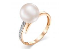 Женские золотые кольца с жемчугом 125068