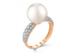 Женские золотые кольца с жемчугом 124837