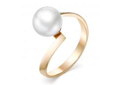 Женские золотые кольца с жемчугом 124842