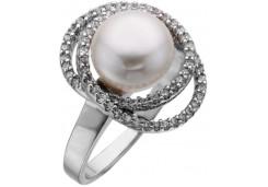 Серебряное кольцо с жемчугом