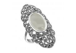 Кольцо из серебра 925 пробы с перламутром