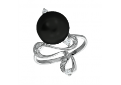 Кольцо из серебра 925 пробы с жемчугом
