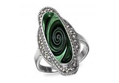 Кольцо из серебра 925 пробы с абалоном