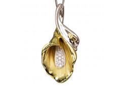 Подвеска из желтого золота 585 пробы с бриллиантом