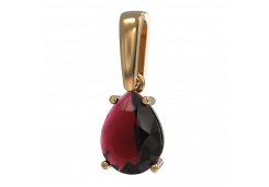 Подвеска из красного золота 585 пробы с рубином