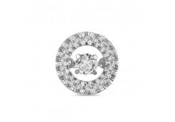 Подвеска из белого золота 585 пробы с бриллиантом