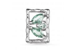 Серебряная подвеска с празиолитом