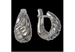 Серебряные cерьги классические