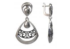 Серебряные cерьги висячие