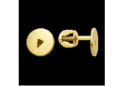 Серьги пусеты (гвоздики) из желтого золота