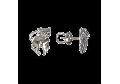 Серебряные cерьги пусеты (гвоздики)