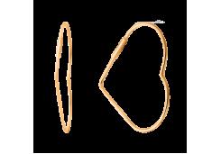 Серьги из красного золота 585 пробы