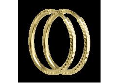 Серьги конго из желтого золота