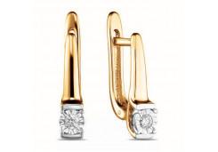 Золотые серьги с бриллиантами 126524