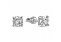 Золотые серьги гвоздики, с бриллиантами 118331