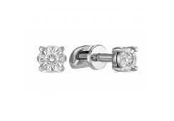 Золотые серьги гвоздики, с бриллиантами 118333