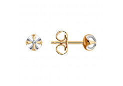 Золотые cерьги пусеты (гвоздики) с бриллиантом