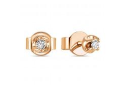 Золотые серьги гвоздики, с бриллиантами 126526