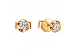 Золотые серьги гвоздики, с бриллиантами 126527