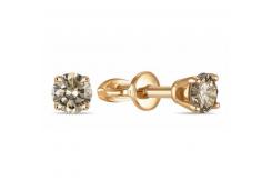 Золотые серьги гвоздики, с бриллиантами 130512