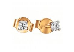 Золотые серьги гвоздики, с бриллиантами 126529