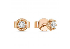 Золотые серьги гвоздики, с бриллиантами 126532