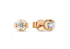 Золотые серьги гвоздики, с бриллиантами 130514
