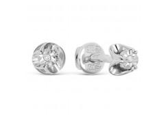 Серьги из серебра 925 пробы с бриллиантом